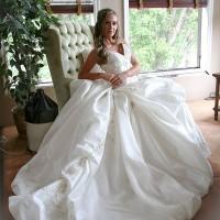 Nina showing her dress