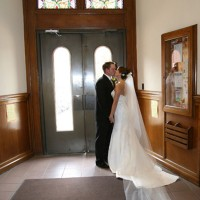 First kiss after the ceremony